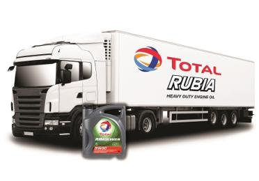 Truck with RUBIA engine oil