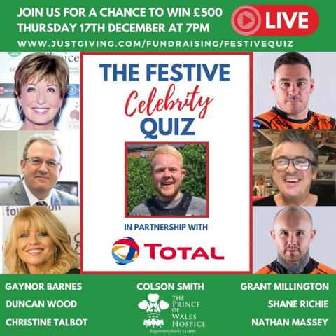 The Prince of Wales Hospice Festive Quiz Total UK